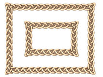 Gold Celtic frame Royalty Free Stock Images