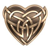 Gold Celtic heart Royalty Free Stock Photos