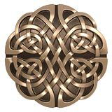 Gold Celtic ornament Stock Photos
