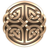 Gold Celtic ornament Royalty Free Stock Photo