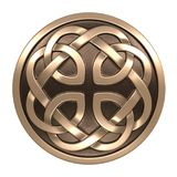 Gold Celtic ornament Royalty Free Stock Photography