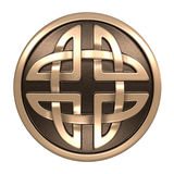 Gold Celtic ornament Royalty Free Stock Images