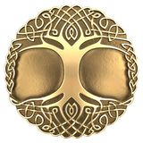 Gold Celtic tree. 3d image Celtic ornament. Isolated white background Royalty Free Illustration
