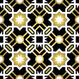 Gold ceramic tile abstract seamless pattern vector illustration