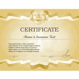 Gold certificate. stock image