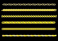 Gold chain. Vector drawing links of gold chain. You can create a chain of any chain vector illustration