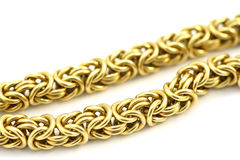 Gold chain. On the white background Stock Photography