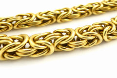 Gold chain. Isolated on white Royalty Free Stock Image