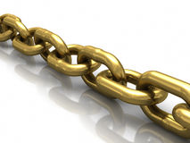 Gold chain Royalty Free Stock Photography