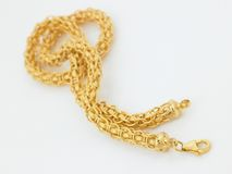 Gold chain Stock Photography