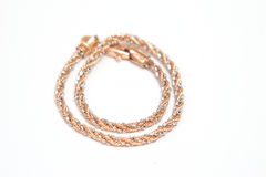 Gold chain bracelet Royalty Free Stock Photo