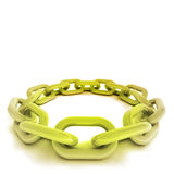 Gold chain circle in perspective view on white Royalty Free Stock Image
