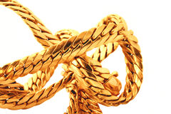 Gold chain details stock images
