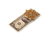 Gold chain and dollar Royalty Free Stock Photo