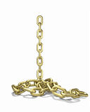 Gold chain falls down Stock Photos