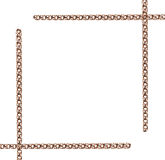 Gold chain frame Royalty Free Stock Photo