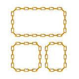 Gold Chain Frames. Vector Stock Photo