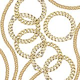 Gold chain vector illustration