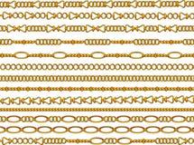 Gold chain royalty free illustration