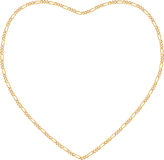 Gold Chain Heart Frame Stock Photography