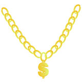 Gold chain - Illustration. Gold chain with a dollar - Illustration web icon vector illustration