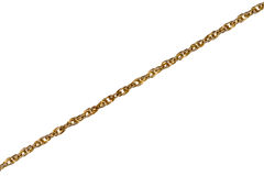 Gold chain. Isolated on white background Royalty Free Stock Photography