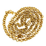 Gold chain Stock Image