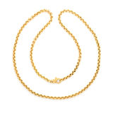 Gold chain Isolated on white Stock Images