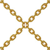 Gold chain isolated on white background, 3d rendering. Illustration Royalty Free Stock Photos