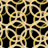 Gold Chain Jewelry Seamless Pattern Background Stock Images