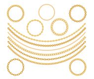 Gold Chain Jewelry on White Background. Vector Illustration. EPS10 stock illustration