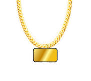 Gold Chain Jewelry Whith Gold Pendants. Vector Royalty Free Stock Photography