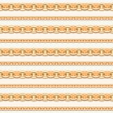 Gold chain lines luxury seamless pattern. For fashion design. Vector. Illustration stock image