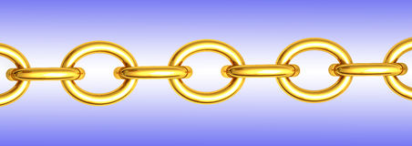 Gold chain Royalty Free Stock Image