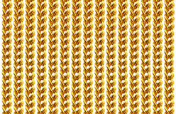 Gold chain necklace isolated on white, closeup , for background Royalty Free Stock Photos