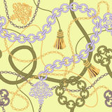 Gold Chain Seamless Vector Background. Stock Image