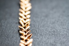 Gold chain. Selective focus. Stock Images