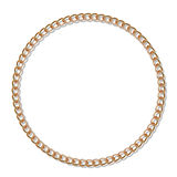 Gold chain. In the shape of a circle. Gradient mesh stock illustration