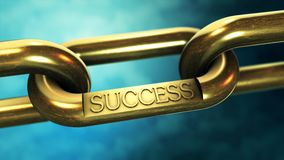 Success chain as business concept Royalty Free Stock Photos