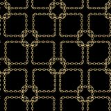 Gold chain square on black seamless vector background. eps10. Gold chain square on black seamless vector background. eps 10 stock illustration