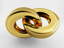 Gold chain of tire Royalty Free Stock Photography