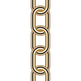 Gold chain. Vector illustration of gold chain Stock Photography