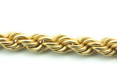 Gold chain. On a white background Stock Photo