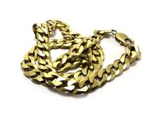 Gold chain. On white background Royalty Free Stock Photography