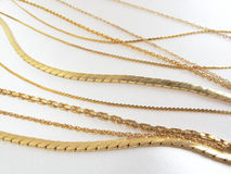 Gold Chains Royalty Free Stock Images