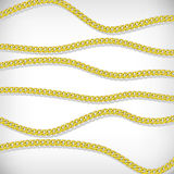 Gold chains background Stock Image