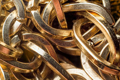 Gold chains Stock Images