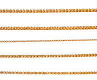 Gold chains. On isolated background Royalty Free Stock Image