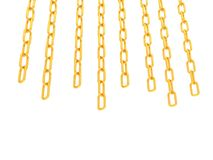 Gold chains isolated on white Stock Photography