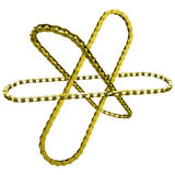 Gold chains like orbits the nucleus Stock Photos